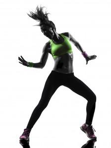 woman exercising fitness zumba dancing silhouette